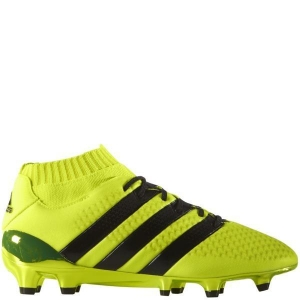 China adidas ACE 16.1 Primeknit J Solar Yellow/Black/Silver Metallic FG Youth Soccer Cleats - model BB0782 on sale