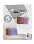 China PONYTAIL HOLDERS WITH GLITTER 2PK 82237 on sale