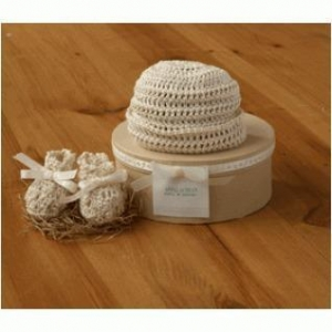 China Crochet Cuff Hat And Booties Kit on sale