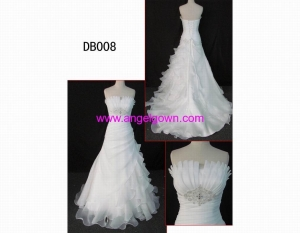 China DB008 2013 latest wedding gown in hot sell with discount on sale