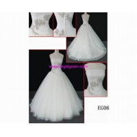 China Classical Wedding Dress EG06 guangdong design netting ball gown A line hot sell wedding gown on sale