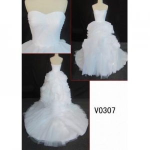 China V0307 summer style hot sell ruffie ball gown bridal dress wedding dress on sale