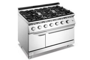 China COOKING EQUIPMENT Commercial Restaurant Equipment Gas 6-Burner 304 Grade SS With Oven F7010GGR on sale