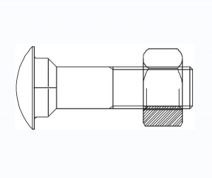 China DIN603 CARRIAGE BOLT with square shoulder on sale