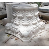 White Marble Column Tops Designs