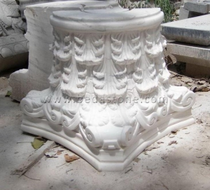 China White Marble Column Tops Designs on sale