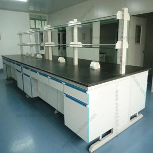 China Lab Design C-Frame Steel Wood Lab Workbench on sale