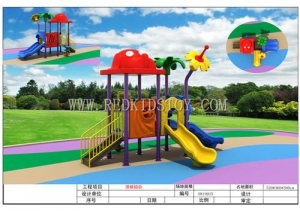 China Kindergarten Outdoor Play System Children Playground Anti-rust HZ-5819 on sale