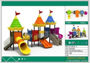 China Exported to US Door to Door Service Antirust Safety Children Playground Structure J71018-4 on sale