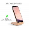 China Wood Grain Fast Wireless Charger,Itian Quick Wireless Charging Stand for iPhone 8/X Samsung Galaxy for sale