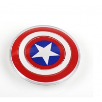 Universal QI Wireless Charger for iPhone X 8 Samsung Galaxy S7 S6 S8 edge Captain America Shield