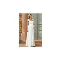 Sheath Cap Sleeve Empire Square Neck Jeweled Chiffon Wedding Dress US$128.19 US$320.39