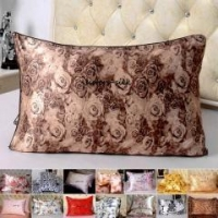 China 2pc 16 Momme 100% Silk Printed Pillow Case Side Envelope Style on sale