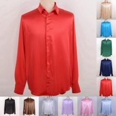 China Men's 30 Momme 100% Pure Silk Dress Shirts Business Shirts Ailisilk on sale