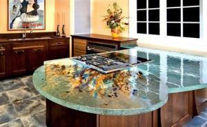 China glass kitchen countertop on sale