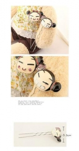 Quality Cute doll barrette hair clasp with bowknot (or w/o bowknot) Model: L0000061 for sale
