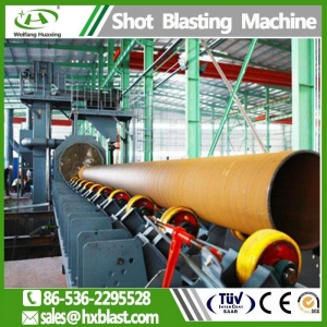 China Shot blasting machinery QGW / QGN Steel Pipe shot blast machine for sale on sale