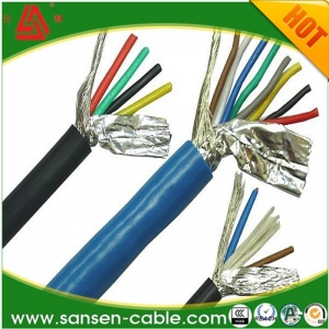 China RVVP model PVC insulated flexible cable with PVC sheath and copper core shielding on sale