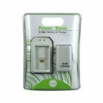 Game accessories for Microsoft Xbox 360 Power Bank 2100mAh Battery Pack + Charger