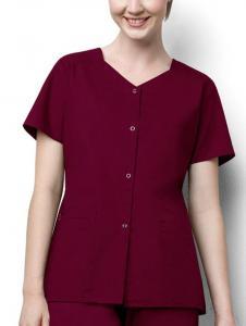 China Stretch Fabrics(421) WonderWORK Short Sleeve Snap Jacket on sale