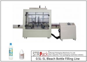 China Anti Corrosive Automatic Liquid Filling Machine , 84 Disinfectant / Bleach Filling Machine on sale