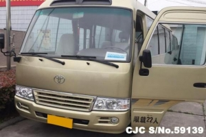 China Left Hand 2005 Toyota Coaster Bus on sale