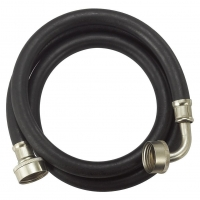 Rubber reinforced washing machine water inlet hose with elbow