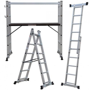 China Ladders 2.7m 5 Way Scaffold Platform Multi Purpose Step Ladder on sale