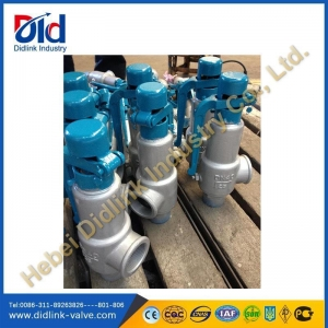 China WCB threaded PN25 DN40 low pressure safety valve operation, safety shut off valve on sale