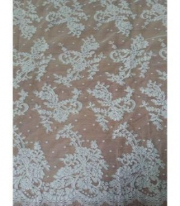 China Bridal Lace Fabric Best Cord Embroidery Patterns Bridal Lace Fabric (W9025) on sale