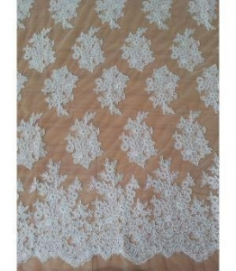 China Bridal Lace Fabric Wedding Lace Embroidery Lace Fabric Embroidered W9012 By The Yard (W9012) on sale