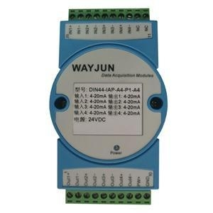 China Analog I/O Modules DIN44 IAP DC current/voltage Converters(four in four out) on sale