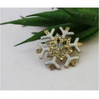 Brooches Crystal Elements Mini Holiday Snow Season Snowflake Fashion Pin Brooch