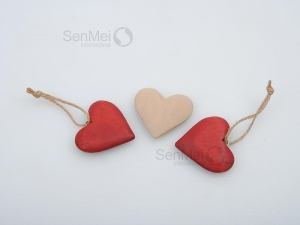 China SEM-699 Wooden heart-shaped small pendant on sale