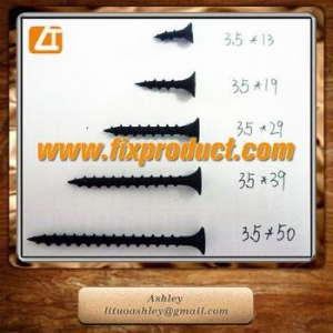 China 3.5mm Black and Grey Phosphatized Drywall Screw for Gypsum Board on sale