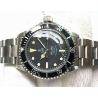 Rolex Watches Knockoff Tudor Vintage Submariner SS Black Face Mens Watch