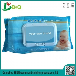 China organic baby wipes 80pcs/bag wet wipes for baby skin care on sale