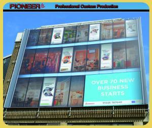 China Custom advertising vinyl banner building wrap on sale