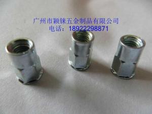 China Small countersunk head half hexagon rivet nuts M6 on sale