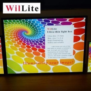 China WilLite Silm Snap Frame Photo Led Custom Light Box Led Light Jewelry Box on sale