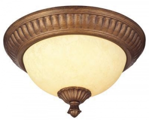 China Regal Springs Two-Light Indoor Flush-Mount Ceiling Fixture on sale