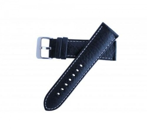 China Hadley Roma Men's Wide Band Collection Genuine Leather Contrast Stitch Watch Band 22mm MS906 on sale