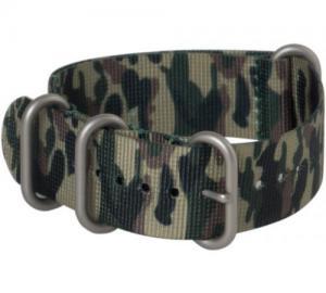 China Hadley-Roma Camo Military Nylon Watch Band 18mm MS4200 on sale