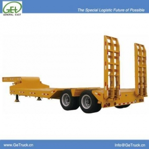 China 9502TDLT-13m 2 axles 50T Tire Exposed Heavy Duty Low Bed Semi-Trailer on sale