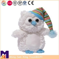China Stuffed Animal Plush Toys Cuddly Plush Owl Tou With Hat on sale