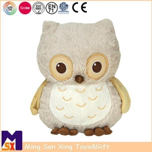 China Stuffed Animal Plush Toys Custom Owl Toy with Embroidery on sale