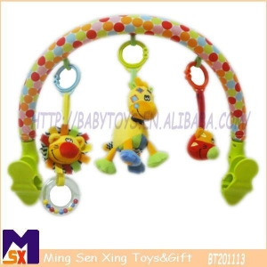 China Stroller Activity Bar Plush Baby Pram Arch Toy on sale