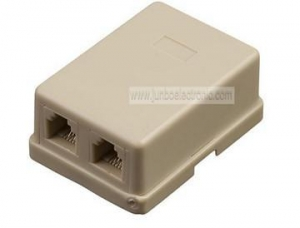 China Telephone cables 6p4c white telephone duplex modular wall jack on sale