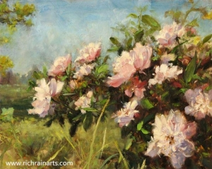 China Field Landscape Flowers Oil Painting on sale