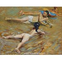 Impressionist Nude Kids Portrait Oil Painting